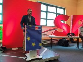 Michail Fotokehagias dankte den anwesenden Parteimitgliedern für die gute Zusammenarbeit im Landtagswahlkampf 2018, den er als Stimmkreiskandidat für Aschaffenburg-Ost bestritt