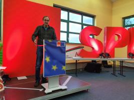 Auch der Vorsitzende des SPD-Ortsverein Mömbris begrüßte alle angreisten Delegierten und Gäste