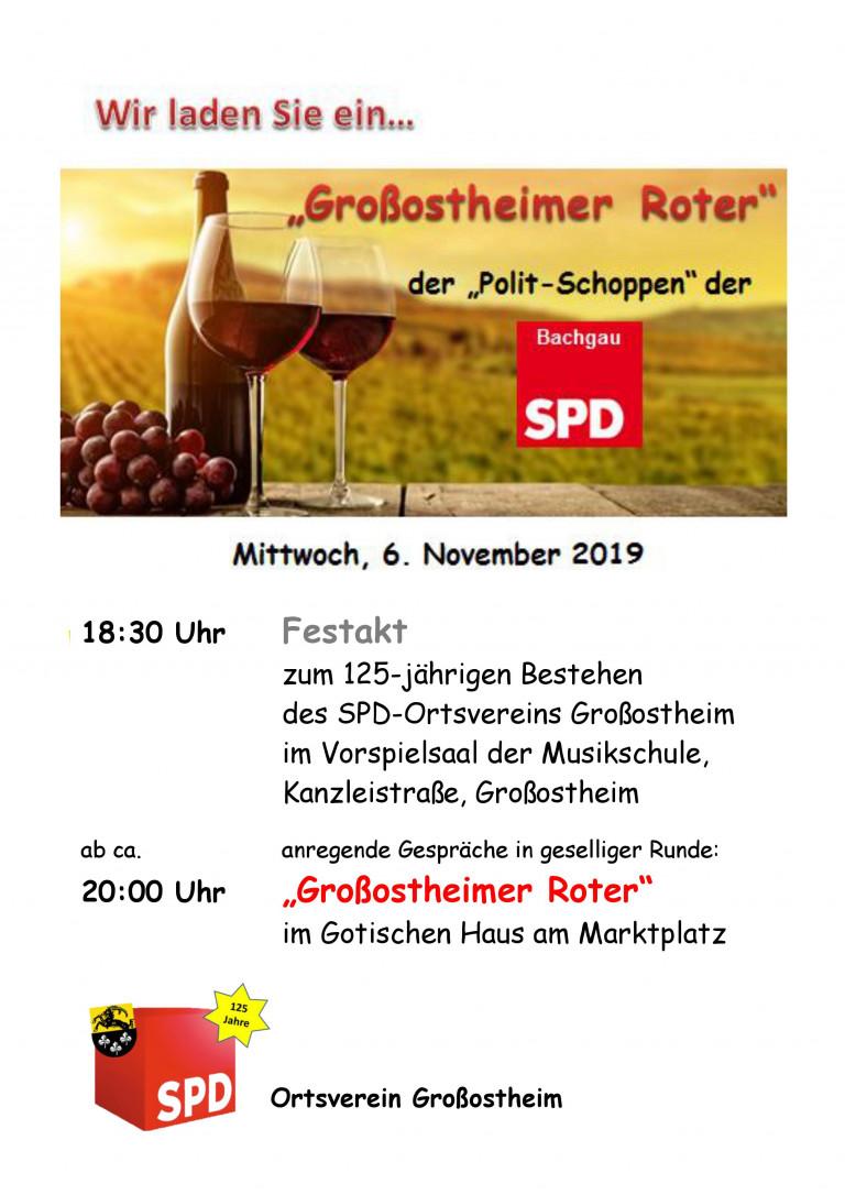 Großostheimer Roter 2019 Ankündigung