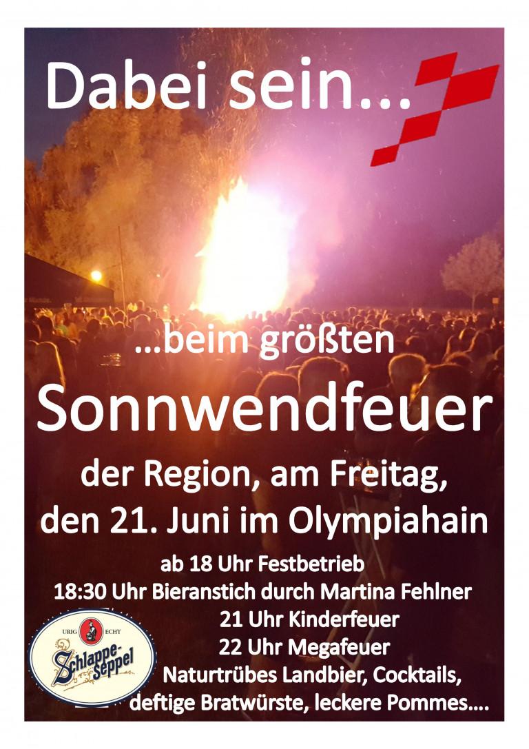 Plakat Sonnwendfeuer 2019 als Bild
