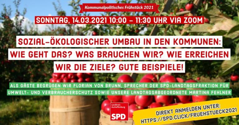 Kommunalpolitisches Frühstück 2021 - Am Sonntag, 14.03.2021 10:00 - 11:30 Uhr via ZOOM
