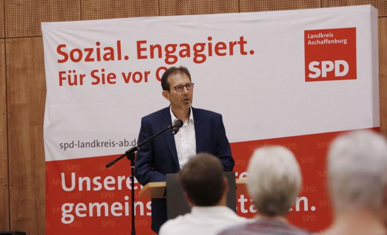 Michael Baumann beim Kreisparteitag am 02.10.2020 (Foto: Roland Leitz)