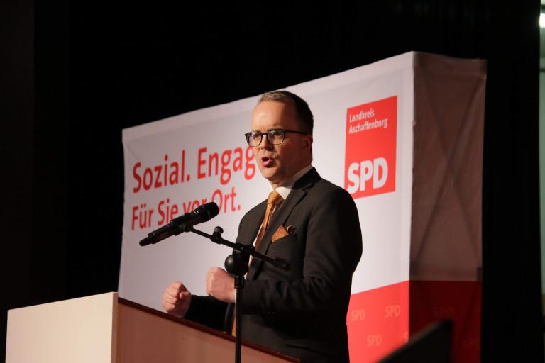Markus Rinderspacher beim Neujahrsempfang der Landkreis SPD am 19.01.2020 in Kahl am Main