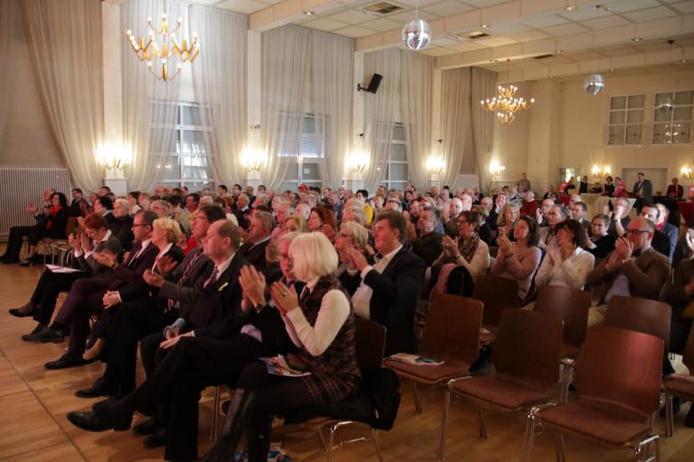 Voller Saal beim Neujahrsempfang der Landkreis SPD am 19.01.2020 in Kahl am Main