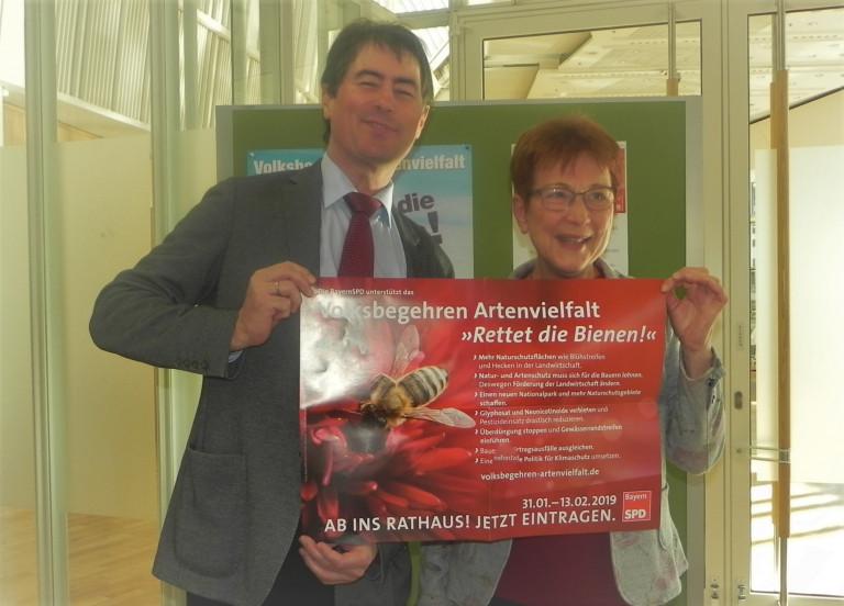 Kreistagsfraktionsvorsitzender Wolfgang Jehn und Kreisvorsitzende Anita Peffgen-Dreikorn