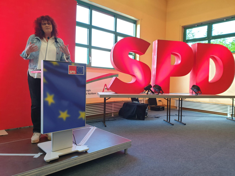 Die unterfränkische Europaabgeordnete Kerstin Westphal hielt ein leidenschaftliches Plädoyer für Europa