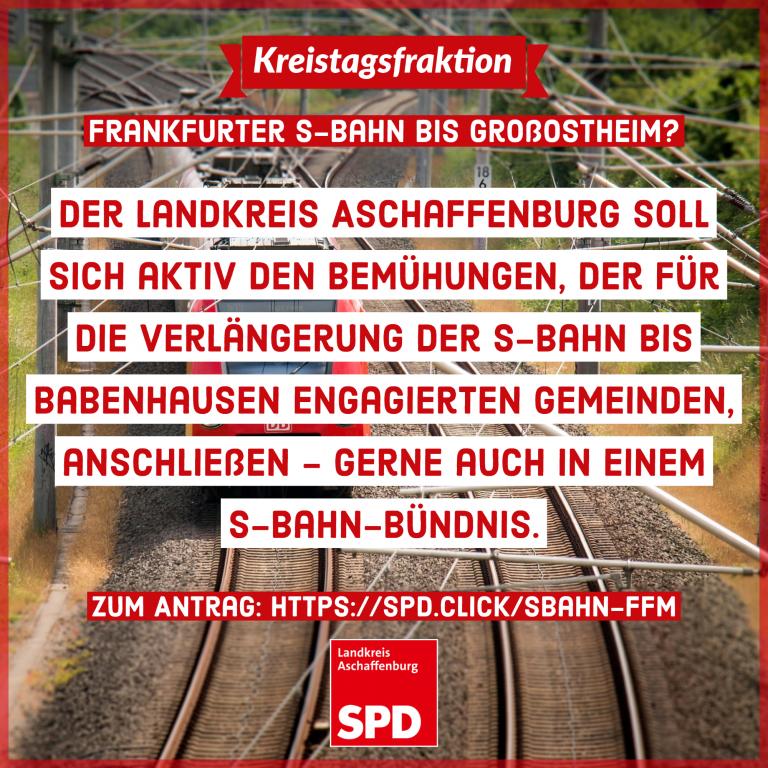 Antrag zur Aufnahme von Gesprächen zu einem S-Bahn Bündnis